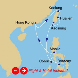 Fly Stay Taiwan and Philippines Azamara Club Cruises Cruise