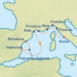 French Riviera and Mediterranean Itinerary