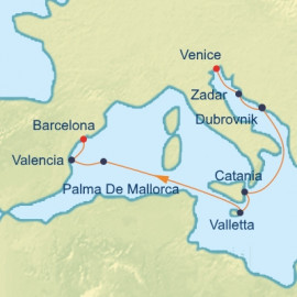Croatia Italy and Spain Itinerary