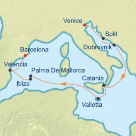 Crotia Italy and Spain Itinerary