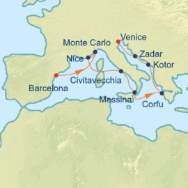 French Riviera and Dalmatian Itinerary