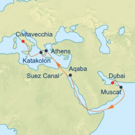 Arabian Sea and Suez Canal Celebrity Cruises Cruise