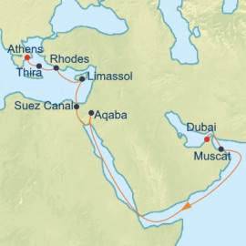 Dubai Suez Canal and Greece Celebrity Cruises Cruise