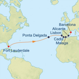 Azores and Iberian Peninsula Itinerary
