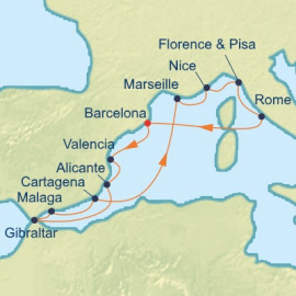 Spain (Andalusia) France and Italy Celebrity Cruises Cruise