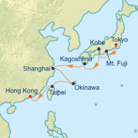 Japan China and Taiwan Itinerary