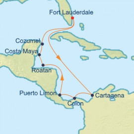 Caribbean And The Americas  Itinerary