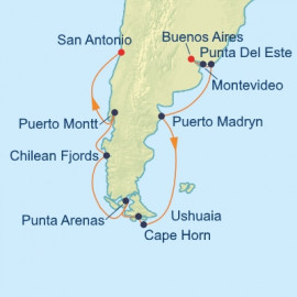 Chile and Argentina and Uruguay Itinerary