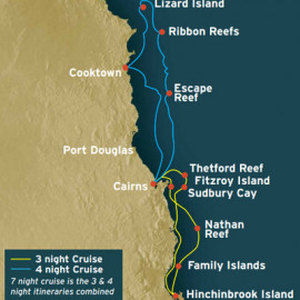Great Barrier Reef Northbound Itinerary