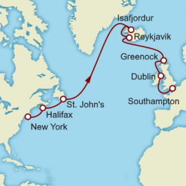 Northern Atlantic Eastbound Crossing And Iceland Itinerary