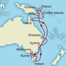 Papua New Guinea and Tasmania Cunard Cruise