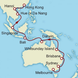 Melbourne to Hong Kong Cunard Cruise