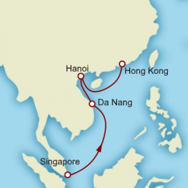 Singapore to Hong Kong World Sector Cunard Cruise