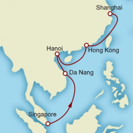Singapore to Shanghai World Sector Cunard Cruise