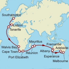 Southampton to Melbourne World Sector Cunard Cruise