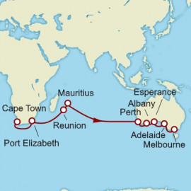 Cape Town to Melbourne World Sector Cunard Cruise