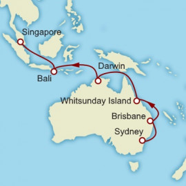 Sydney to Singapore Cunard Cruise