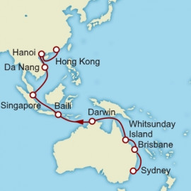Sydney to Hong Kong World Sector Cunard Cruise