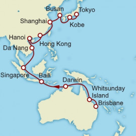 Brisbane to Tokyo World Sector Itinerary