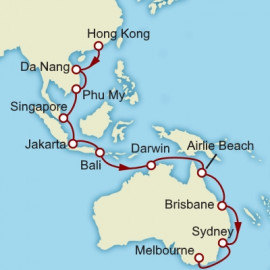 Hong Kong to Melbourne Cunard Cruise