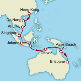 Hong Kong to Brisbane Cunard Cruise