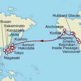 Alaska and Japan Cunard Cruise