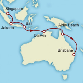 Singapore to Brisbane Cunard Cruise