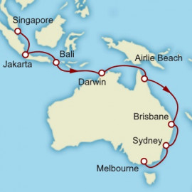 Singapore to Melbourne Cunard Cruise