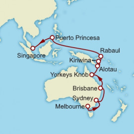 Melbourne to Singapore Cunard Cruise