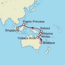 Brisbane to Singapore Cunard Cruise