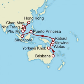 Brisbane to Hong Kong Cunard Cruise