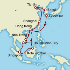Singapore to Singapore World Sector Itinerary