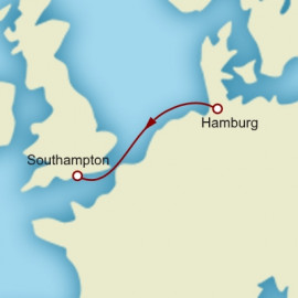 Hamburg to Southampton over 2 nights on Queen Mary 2 Cunard Cruise