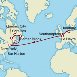 Hamburg to Quebec City over 17 nights on Queen Mary 2 Cunard Cruise