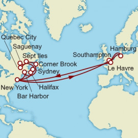 Round trip from Hamburg over 33 nights on Queen Mary 2 Cunard Cruise