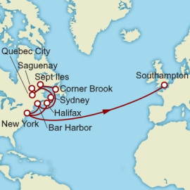 New York to Southampton over 21 nights on Queen Mary 2 Cunard Cruise