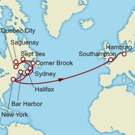 New York to Hamburg over 23 nights on Queen Mary 2 Cunard Cruise