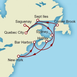 Round trip from New York Cunard Cruise