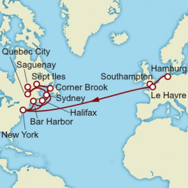 Hamburg to New York over 24 nights on Queen Mary 2 Cunard Cruise