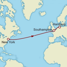 New York to Hamburg over 9 nights on Queen Mary 2 Cunard Cruise