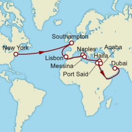 New York to Dubai over 27 nights on Queen Mary 2 Cunard Cruise