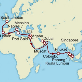 Southampton to Singapore Cunard Cruise