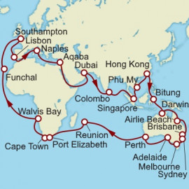 World Voyage Cunard Cruise