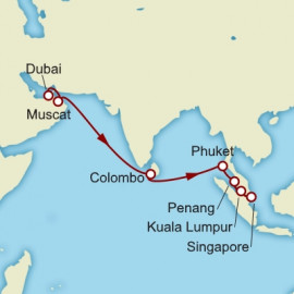 Dubai to Singapore Cunard Cruise
