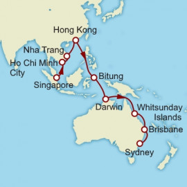 Singapore to Sydney Cunard Cruise