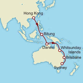 Hong Kong to Sydney Cunard Cruise