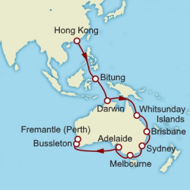 Hong Kong to Fremantle Cunard Cruise