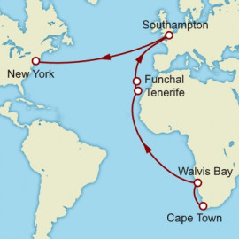 Cape Town to New York Cunard Cruise