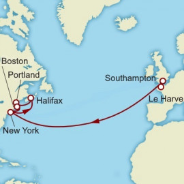 Westbound Transatlantic New England and Canada Cunard Cruise