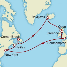 Transatlantic Crossing Iceland and North America Cunard Cruise